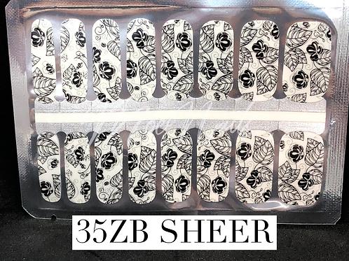 Nail Polish Strip 35ZB sheer