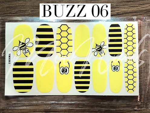 Nail Polish Sticker - Buzz 06