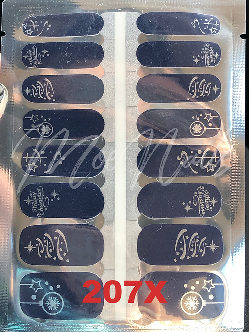 Christmas Nail Strip 207X