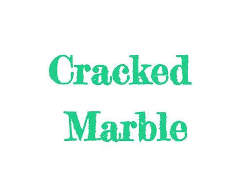 Cracked Marble Sublimated Drinkware