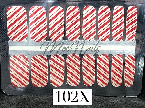 Christmas Nail Strip 102X