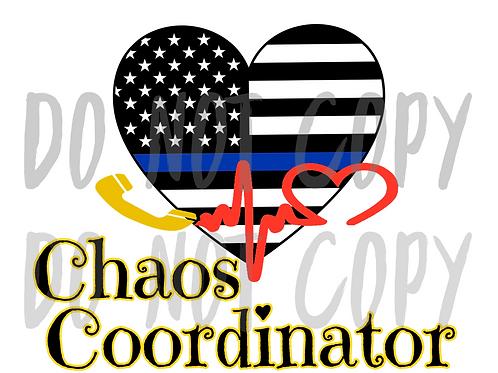 Chaos Coordinator Heart - Sublimated Drinkware
