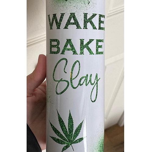 Wake Bake Slay Sublimated Drinkware
