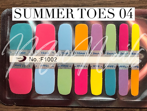 Pedicure Nail Polish Strip - Summer Toes 04