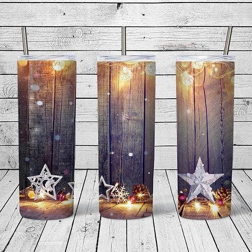 Rustic stars & lights Sublimated Drinkware