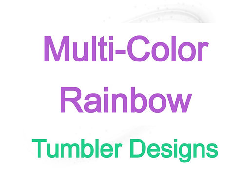 Multi-color Rainbow Sublimated Drinkware