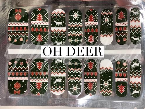 "Christmas Nail Strip ""Oh Deer"""