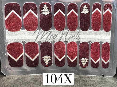 Christmas Nail Strip 104X