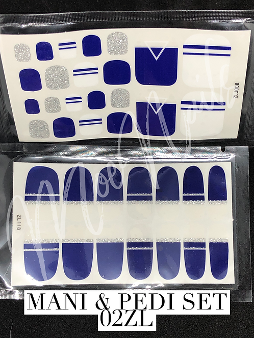 Mani & Pedi Nail Polish Sticker Set 02ZL