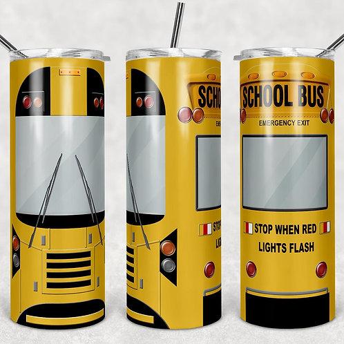 School Bus Sublimated Drinkware