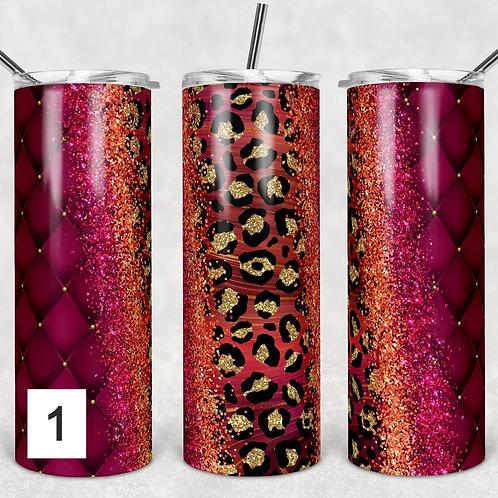Cheetah Brushstrokes Sublimated Drinkware