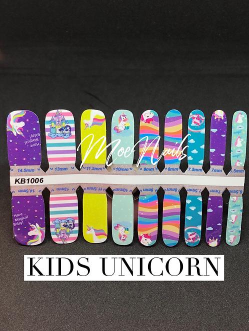Nail Polish Strip Kids Unicorn