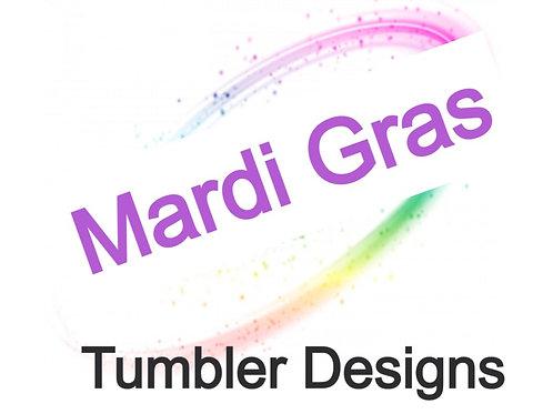 Mardi Gras Sublimated Drinkware