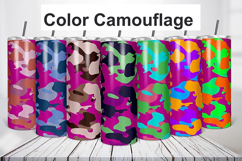 Colorful Camouflage Sublimated Drinkware