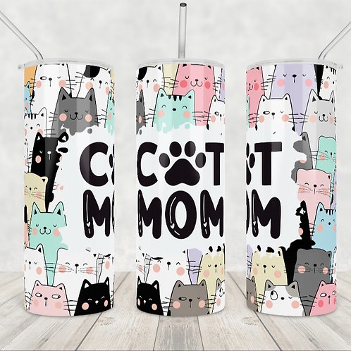 Cat Mom Sublimated Drinkware