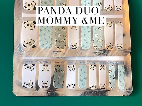 Mommy & Me PANDA Nail Polish Strip Set