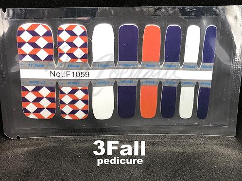 Fall pedicure nail strip 3Fall