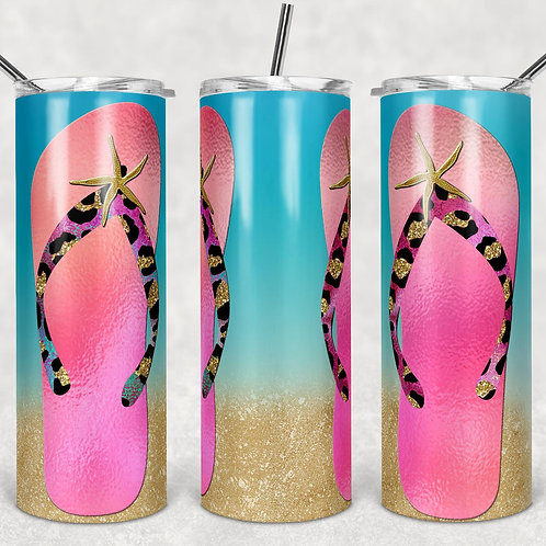 Flip Flops Sublimated Drinkware
