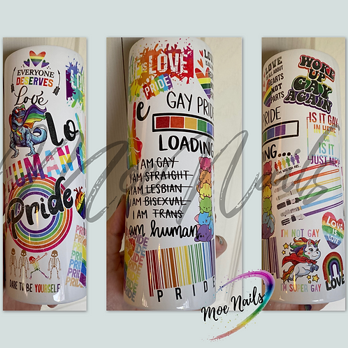 """""""Everything but the Kitchen Sink, Pride""""- Sublimated Drinkware"""