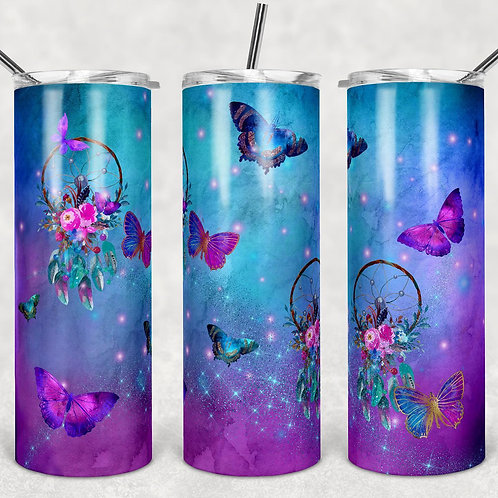 Dreamcatcher Butterflies Sublimated Drinkware