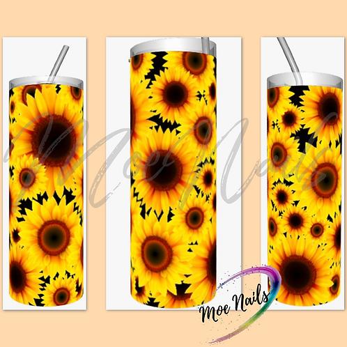 Sunflower confetti Sublimated Drinkware