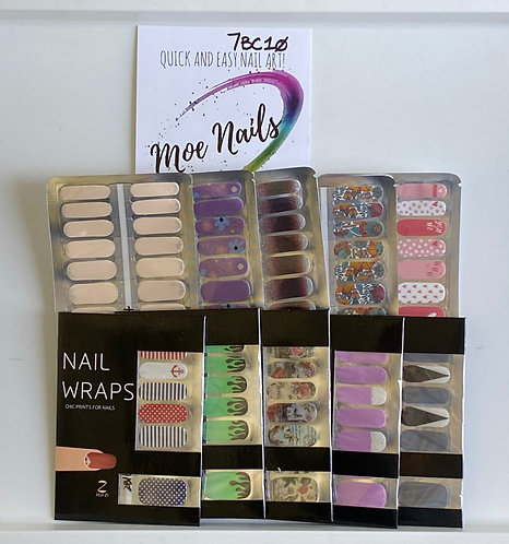 10 Piece Nail Polish strips Sampler - 7BC10