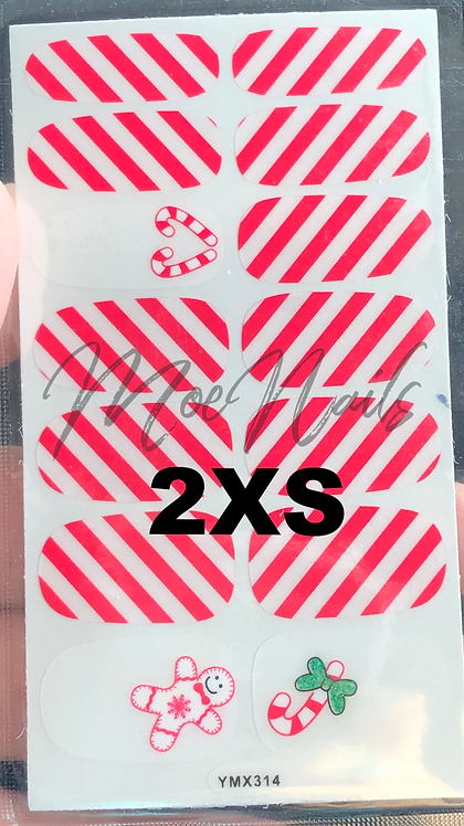 Christmas Nail Stickers 2XS