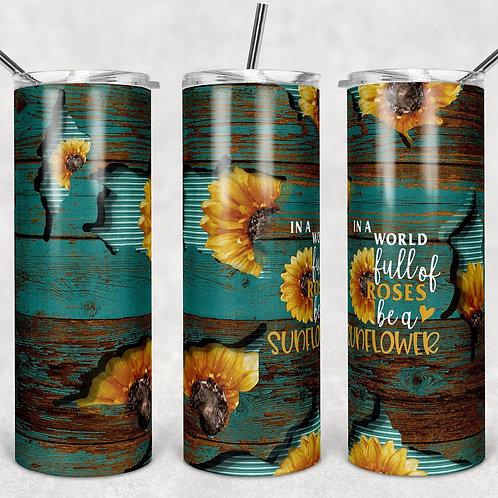 Sunflower Sublimated Drinkware