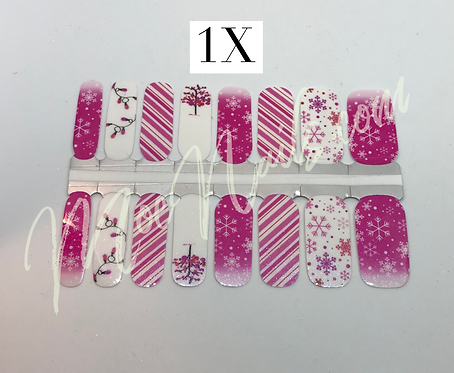 Christmas Nail Strip 1X