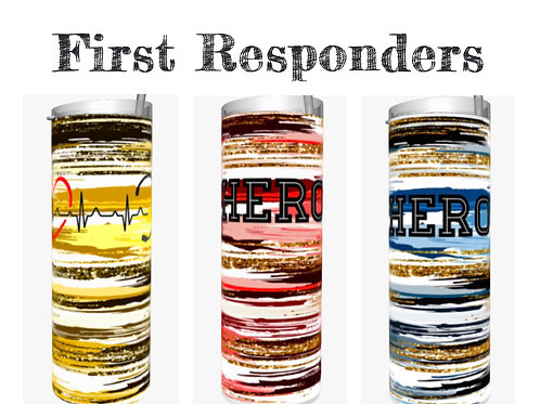First Responder Sublimated Drinkware