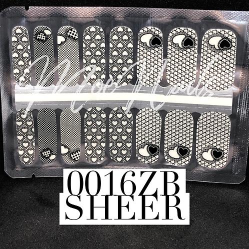 Nail Polish Strip 0016ZB SHEER