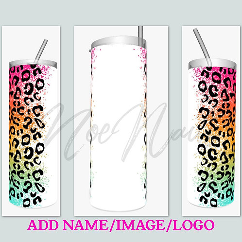 Personalized Cheetah Sublimated Drinkware