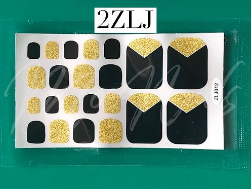 Pedicure Nail Polish Stickers 2ZLJ