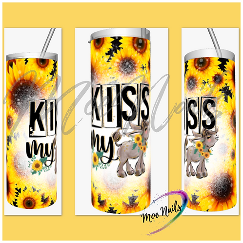 Kiss My *** Sunflower Sublimated Drinkware