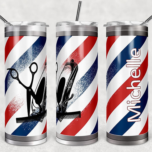Barber Pole Sublimated Drinkware