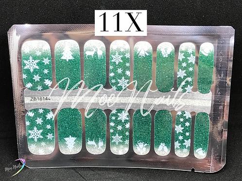 Christmas Nail Strip 11X