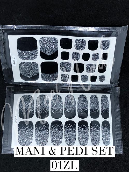 Mani & Pedi Nail Polish Sticker Set 01ZL
