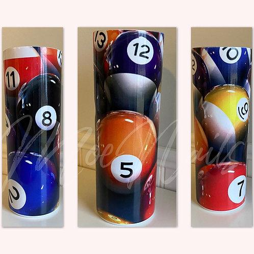 Billiards Pool balls Sublimated Drinkware