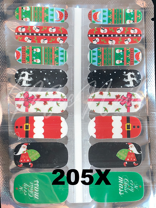 Christmas Nail Strip 205X
