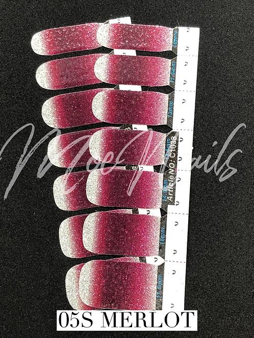 No-Heat Vinyl Nail Strips 05S -MERLOT