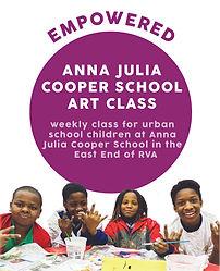 ICON anna julia cooper school art class.