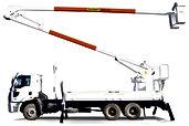 Ensaios elétricos emCaminhão cesto aéreo e forro liner Caminhão cesta aérea, Skyritz, Hidrogrubert, Altec, Palfinger   KV Ensaios - Manutenção, Testes e Ensaios elétricos nr10