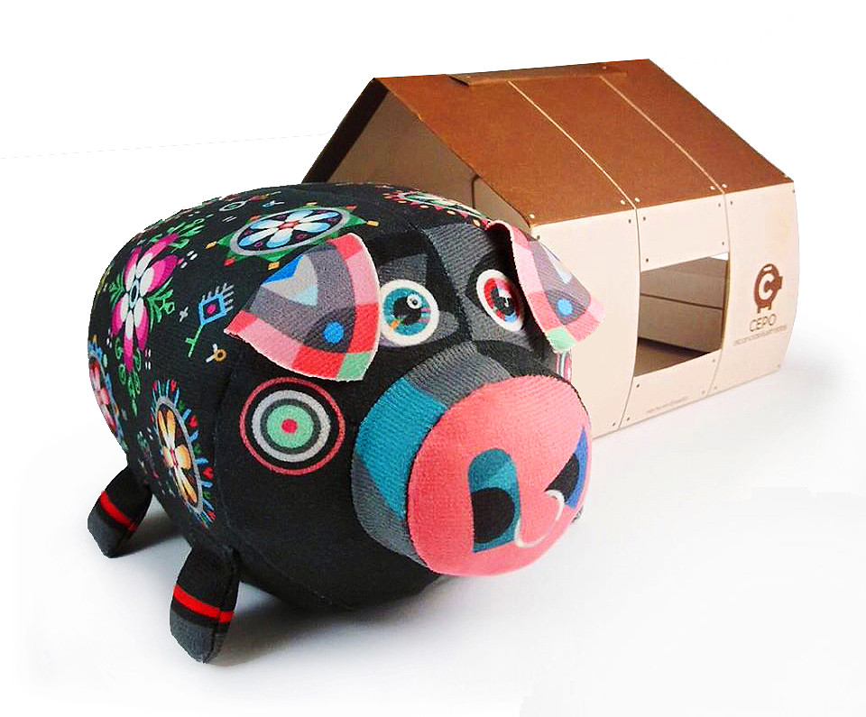 Piggy bank - black (Ref. SI.PB.002)