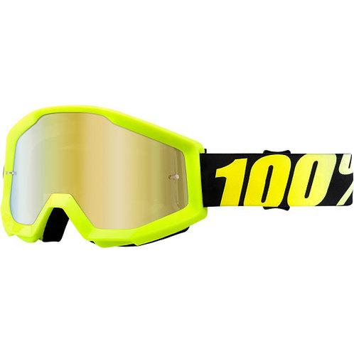 100% Strata Neon Yellow visiera specchio - solo online