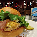 Black & Bleu Chicken Burger