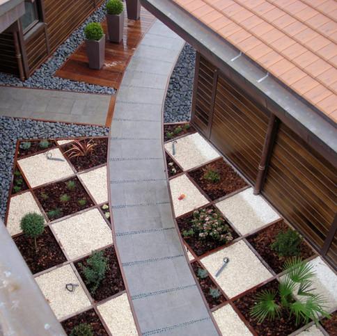 Les courbes dans un jardin