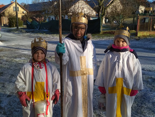 Poděkování koledníkům za tři krále