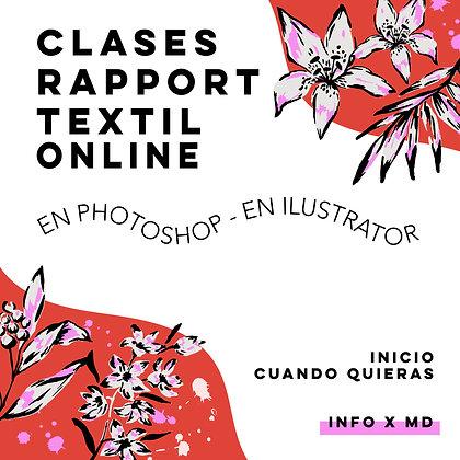 4 Clases Online Personalizadas de rapport textil