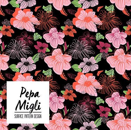 Petunias_Ilustraciondigital