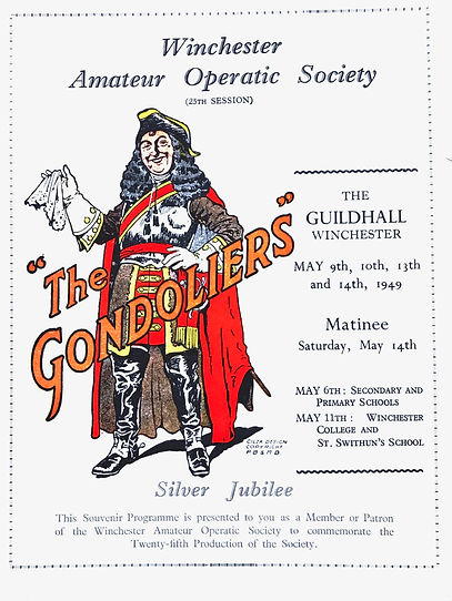Programme cover for The Gondoliers 1949